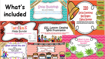 SEL Mega Bundle- Save 25 dollars! 5 full lesson plans and 300+ task cards