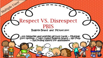 SEL-PBIS Positive and Negative behavior Picture sort and bulletin board bundle!