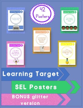 SEL Posters Learning Target Social Emotional Learning SPED