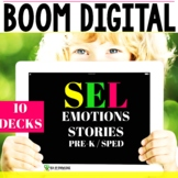 SEL Reading Feelings and Emotions - Boom Cards Distance Learning