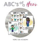 SEL Social Emotional Learning Posters - ABCs of a Hero