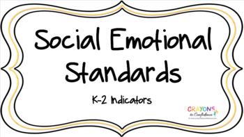 SEL Standards K-2