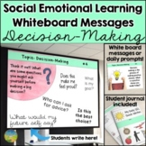 Social Emotional Learning Daily Prompts for Decision-Makin