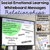 Social Emotional Learning Daily Prompts for Relationships