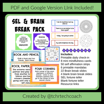 SEL and Brain Breaks Pack