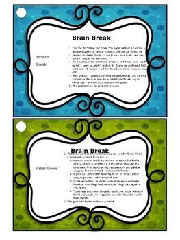 SEL task cards, morning meeting, brain breaks, opening closing activities