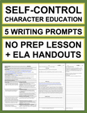SELF-CONTROL Activities: 5 Writing Prompts