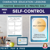 SELF-CONTROL Positive Behavior | Daily Character Education