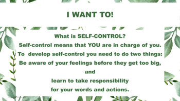 "SELF-CONTROL Lesson ""You Get What You Get"" w 7 video PBIS Character Ed"