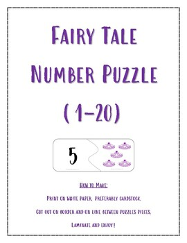 Self-Correcting Fairy Tale Number Puzzle (1-20)