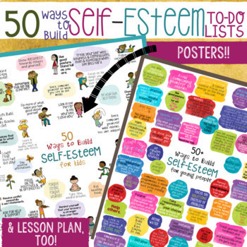 SELF-ESTEEM: School Counseling Game & Lesson *50 Ways to Build Self-Esteem!