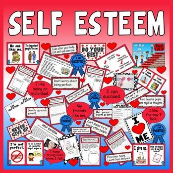 SELF ESTEEM TEACHING RESOURCES KS2-4 DISPLAY FEELINGS EMOTIONS LOW OURSELVES