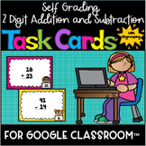 SELF GRADING 2-Digit Addition And Subtraction Task Cards f