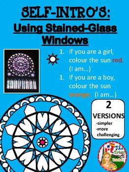 SELF-INTRO'S: Using Stained-Glass Windows