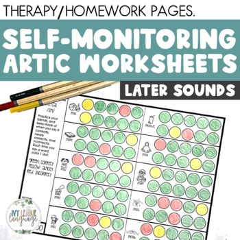 SELF-MONITORING SHEETS for Articulation