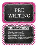 SELF MONITORING WRITING PROCESS BULLETIN BOARD - CHALKBOARD THEME