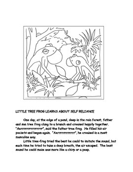 Character Education: Little Tree Frog Learns About Self Reliance
