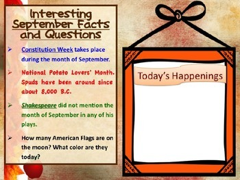 SELF STARTER TEMPLATES {TRIVIA FACTS/TRIVIA QUESTIONS} {SEPTEMBER}