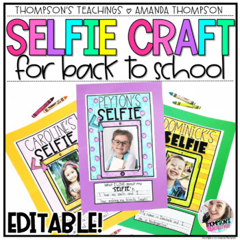 SELFIE CRAFT for BACK TO SCHOOL