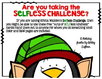 SELFless Challenge Kindness Act Cards