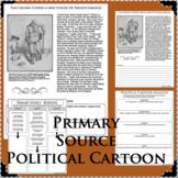 SENATOR BLAINE Political Cartoon WWI PRIMARY SOURCE Document Analysis