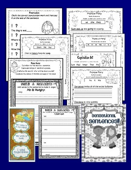 SENSATIONAL SENTENCES {NO PREP ACTIVITIES - PRINTABLES - WORKBOOK}