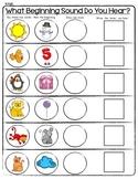 SENSATIONAL SOUNDS Worksheets * Beginning, Middle, Ending * Phonemic Awareness