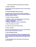 SENSE ORGANS REVIEW QUESTIONS AND ANSWERS