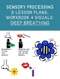 SENSORY PROCESSING 5 DEEP BREATHING LESSON PLANS & WORKBOOK