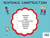 SENTENCE CONSTRUCTION (pronouns, is/are, verbs, vocab)