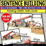 SENTENCE BUILDING with Pictures Task Cards READING SKILLS Task Box Filler SET #2