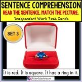 "SENTENCE COMPREHENSION Reading Task Cards for Autism ""Task"