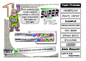 SENTENCE CONSTRUCTION- SUPER inc. Activity Pack