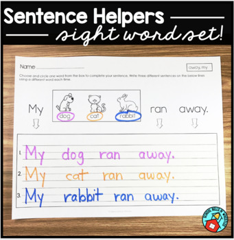 Sight Word Sentence Writing