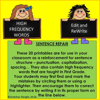 SENTENCE REPAIR - EDITING - SENTENCE STRUCTURE