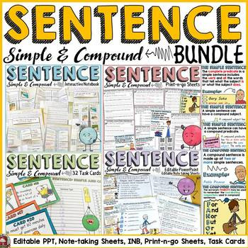 SENTENCE STRUCTURE BUNDLE: SIMPLE SENTENCE: COMPOUND SENTENCE