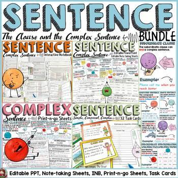 SENTENCE STRUCTURE: COMPLEX SENTENCE BUNDLE:
