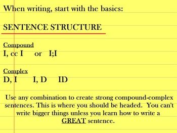SENTENCE STRUCTURE COMPOUND COMPLEX