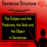 ⭐Sentence Structure ❘ Subject ❘ Predicate ❘ Verb ❘ Object