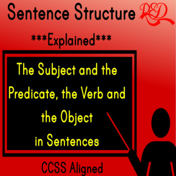 ⭐Sentence Structure ❘ Subject and Predicate ❘ Grammar Worksheets and Assessment