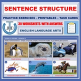 SENTENCE TYPES BY STRUCTURE WORKSHEETS WITH ANSWERS
