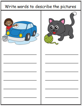 SENTENCE WORK - describe the pictures