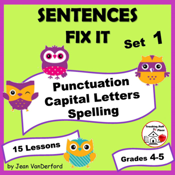 Proofreading | SENTENCES to FIX | RULES | PROOF READ | Dra