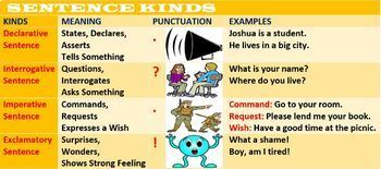 SENTENCES BY FUNCTION: HANDOUT
