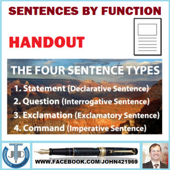 SENTENCES BY FUNCTION HANDOUT