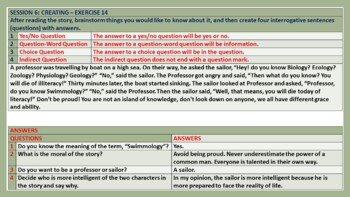 SENTENCES BY FUNCTION WORKSHEETS WITH ANSWERS