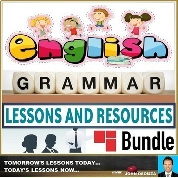 ENGLISH GRAMMAR LESSONS AND RESOURCES BUNDLE