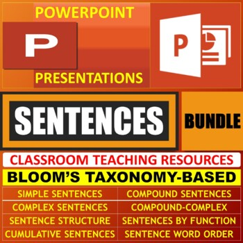 SENTENCES LESSON PRESENTATIONS BUNDLE