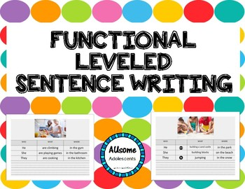 SENTENCES--- Build, Create, and Write BUNDLE (SPED/AUTISM/ELEMENTARY/MIDDLE)