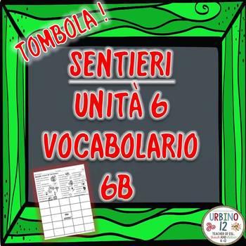 SENTIERI Unità 6 Vocabolario 6B  Dal Dottore Bingo Game